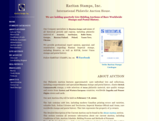 raritanstamps.com screenshot