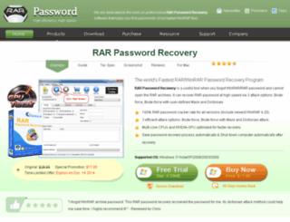 rarpasswordrecovery.com screenshot