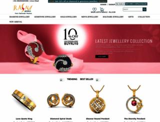 rasavjewels.com screenshot