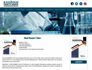 rasayanjournal.co.in screenshot