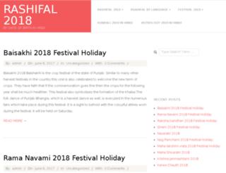rashifal2018.my-horoscope.in screenshot