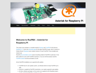 raspberry-asterisk.org screenshot