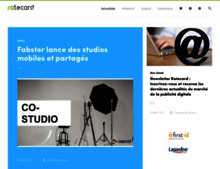 ratecard.fr screenshot