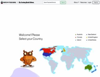 ratemyteachers.com screenshot