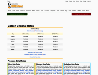 rates.goldenchennai.com screenshot