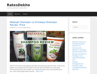 ratesdekho.com screenshot
