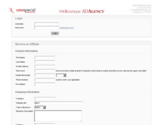 ratespecial.affiliate-reporting.com screenshot