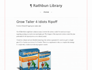 rathbunlibrary.org screenshot