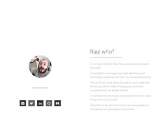 raulmangolin.com screenshot