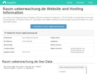 raum-ueberwachung.de.hostdir.org screenshot