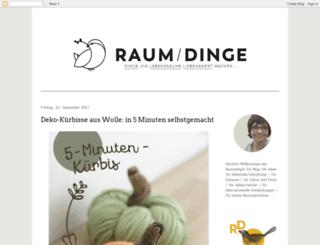 raumdinge.blogspot.com screenshot