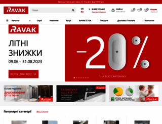 ravak.com.ua screenshot