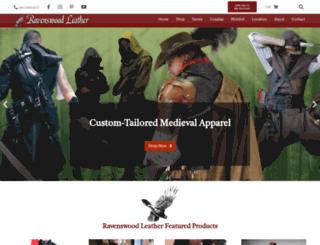 ravenswoodleather.com screenshot