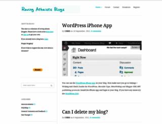 ravingatheists.com screenshot