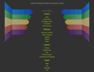 raw-living-food-success.com screenshot