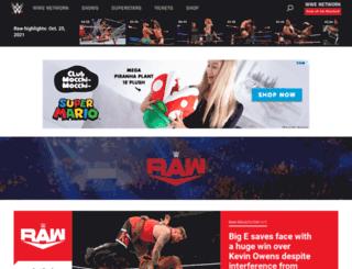 raw.wwe.com screenshot