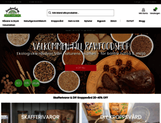 rawfoodshop.se screenshot