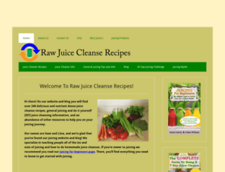 rawjuicecleanserecipes.com screenshot