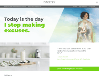 rawkyourbody.isagenix.com screenshot