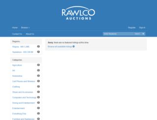 rawlcoradioauction.com screenshot
