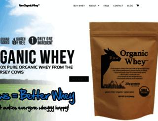 raworganicwhey.com screenshot