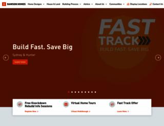 rawsonhomes.net.au screenshot
