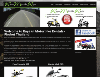 rayaanmotorbikephuket.com screenshot