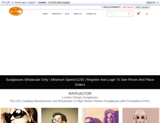 rayflectorsunglasses.com screenshot