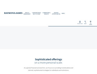 raymondjames.com screenshot