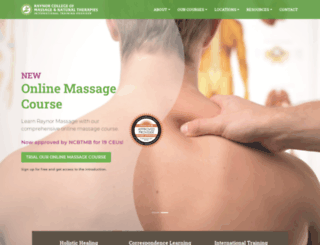 raynormassage.com screenshot