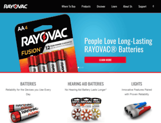 rayovac.com screenshot