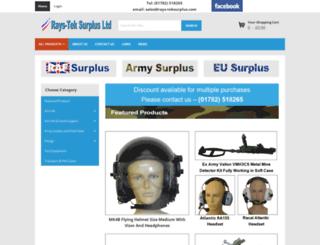 rays-teksurplus.co.uk screenshot