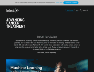 raysearchlabs.com screenshot