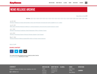 raytheon.mediaroom.com screenshot