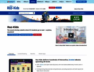 raz-kids.com screenshot