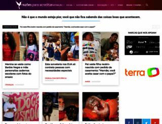 razoesparaacreditar.com screenshot
