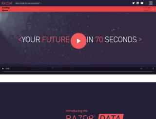 razor.co.uk screenshot