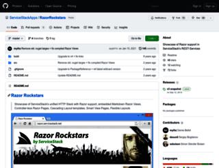 razor.servicestack.net screenshot