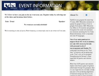 rbcevents.org screenshot