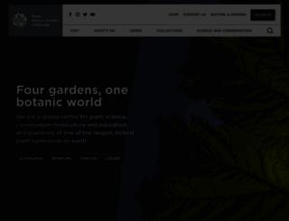 rbge.org.uk screenshot
