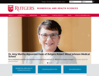 rbhs.rutgers.edu screenshot