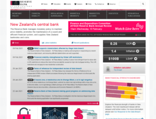 rbnz.govt.nz screenshot