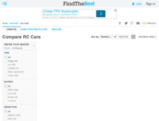 rc-cars.findthebest.com screenshot