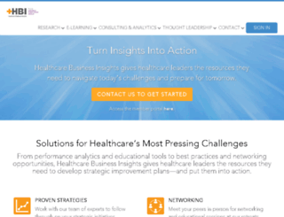 rca.healthcarebusinessinsights.com screenshot