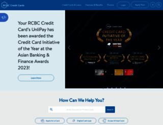 rcbcbankard.com screenshot