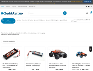 rcbutikken.no screenshot