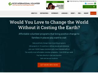 rcdpinternationalvolunteer.org screenshot