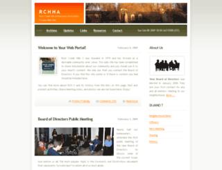 rchha.org screenshot