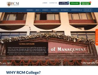 rcm.ac.in screenshot