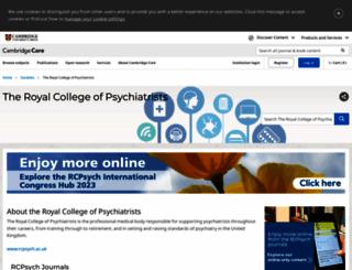 rcpsych.org screenshot
